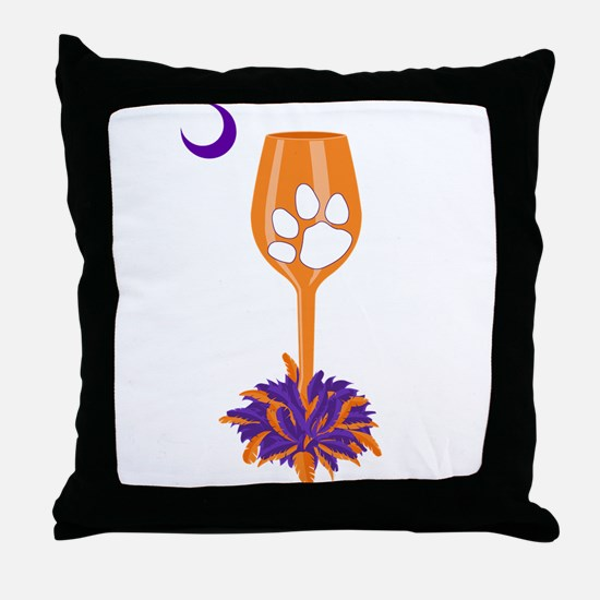 Tipsy Tiger (Orange) Throw Pillow