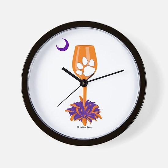Tipsy Tiger (Orange) Wall Clock