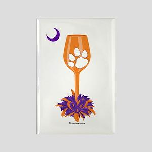 Tipsy Tiger (Orange) Rectangle Magnet
