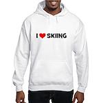 I Love Skiing Hooded Sweatshirt