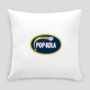 Pop Kola brand logo blue soda Everyday Pillow