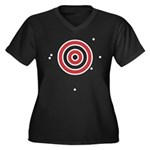 Target Practice Women's Plus Size V-Neck Dark T-Sh