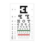 Mirror image eye chart