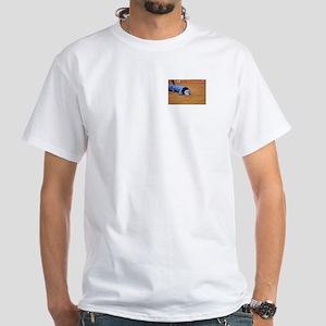 Sheltie Dog Agility White T-Shirt