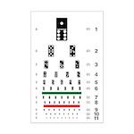Eye chart with dominoes