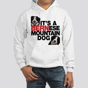It's a BERNese Mountain Dog Hooded Sweatshirt