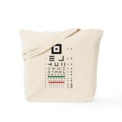 Abstract symbols eye chart tote bag #3