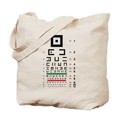 Abstract symbols eye chart tote bag #2