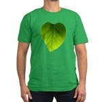 Green Heart Leaf Men's Fitted T-Shirt (dark)