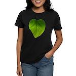 Green Heart Leaf Women's Dark T-Shirt