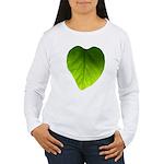 Green Heart Leaf Women's Long Sleeve T-Shirt