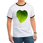 Green Heart Leaf Ringer T