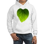 Green Heart Leaf Hooded Sweatshirt