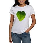 Green Heart Leaf Women's T-Shirt