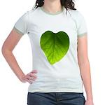 Green Heart Leaf Jr. Ringer T-Shirt