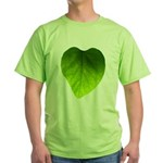 Green Heart Leaf Green T-Shirt