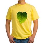 Green Heart Leaf Yellow T-Shirt