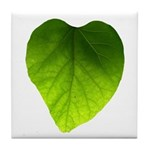 Green Heart Leaf Tile Coaster
