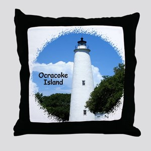 Ocracoke Lighthouse Throw Pillow