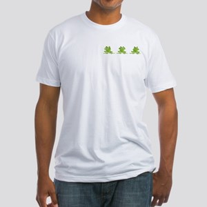 3 Frogs! Fitted T-Shirt