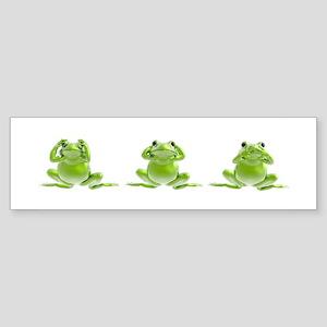 3 Frogs! Bumper Sticker