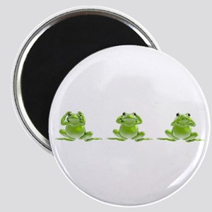 3 Frogs! Magnet