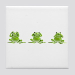 3 Frogs! Tile Coaster
