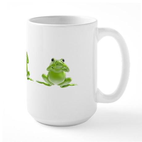 3 Frogs! Large Mug