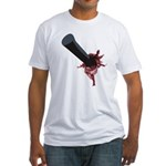 Halloween Costume with Scar Fitted T-Shirt