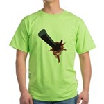Halloween Costume with Scar Green T-Shirt