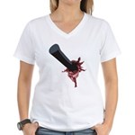 Halloween Costume with Scar Women's V-Neck T-Shirt