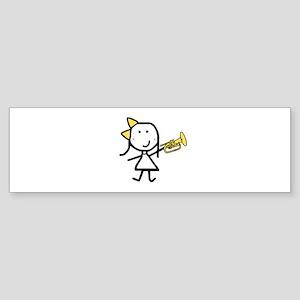 Girl & Mellophone Bumper Sticker
