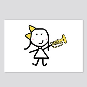 Girl & Mellophone Postcards (Package of 8)