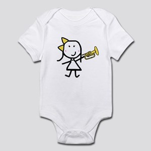 Girl & Mellophone Infant Bodysuit