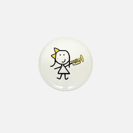 Girl & Mellophone Mini Button