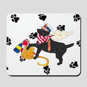 Gulliver's Angels Black Sailor Lab Mousepad