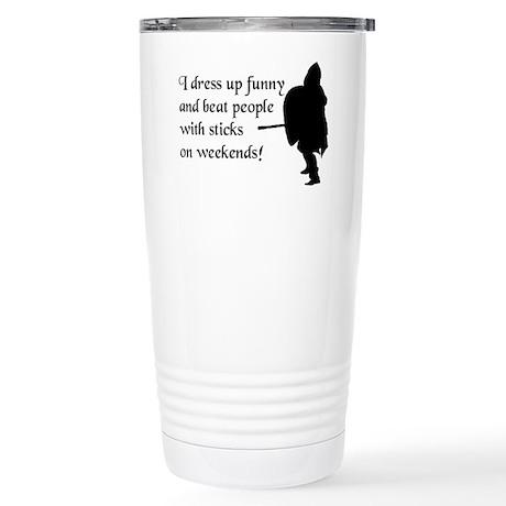 Weekend Warrior Stainless Steel Travel Mug