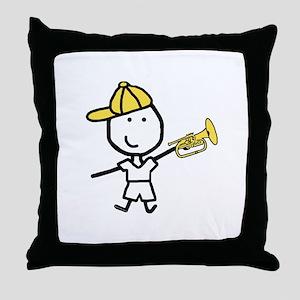 Boy & Mellophone Throw Pillow