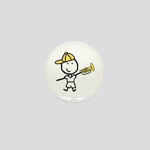 Boy & Mellophone Mini Button