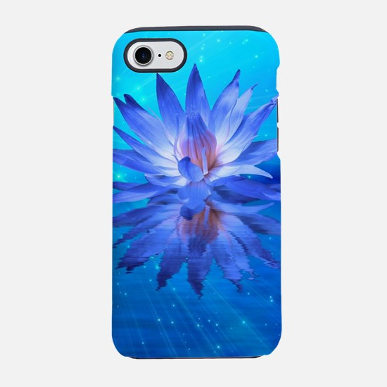 Blue Water Lily iPhone 7 Tough Case