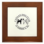 Canaan Dog Club of America Lo Framed Tile