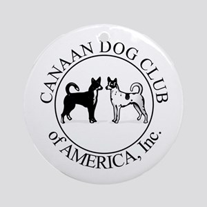 Canaan Dog Club of America Lo Ornament (Round)