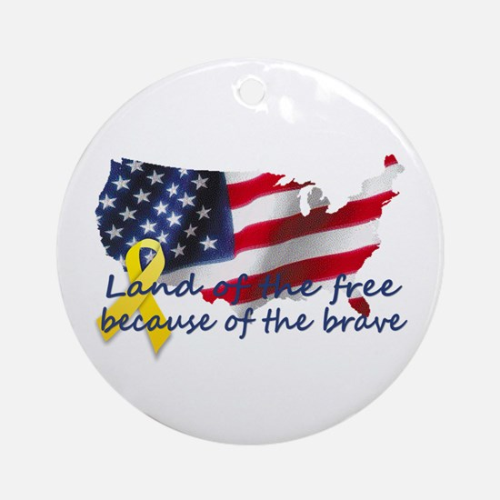 Land of the free ... Ornament (Round)