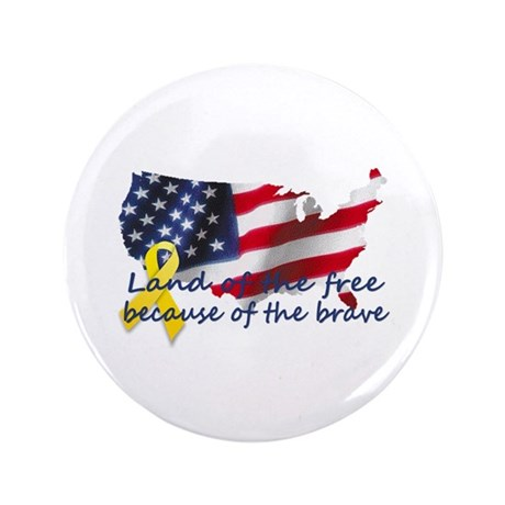 "Land of the free ... 3.5"" Button"