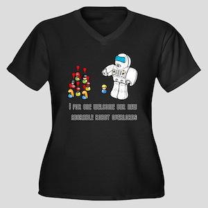 Robot Overlords Women's Plus Size V-Neck Dark T-Sh