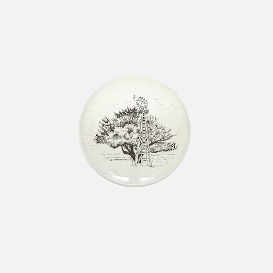 Winchester Tree Mini Button