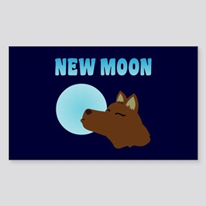 New Moon Jacob Wolf Rectangle Sticker