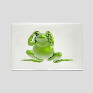 Frog - See No Evil! Rectangle Magnet