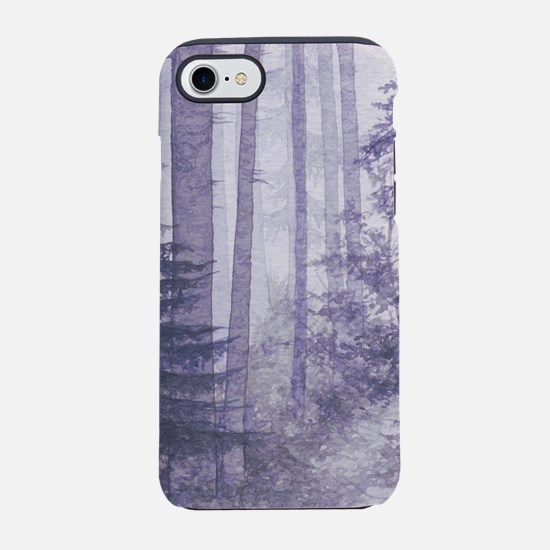 Purple Misty Forest iPhone 7 Tough Case