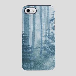 Blue Misty Forest iPhone 7 Tough Case